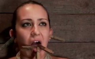 horny undressed doxy in taut rope servitude
