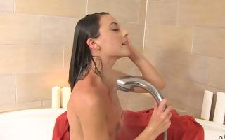 spanish girl lorena showering and masturbation