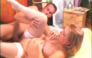 older in white nylons sucks and bonks