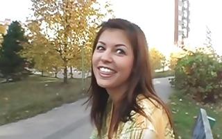 sexy dark brown babe teasing