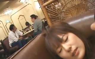 sexy japanese doll gets three-some hard public
