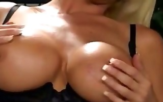 wicked blonde chick opens lovely twat outdoors