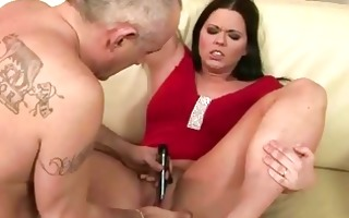 aged boy playing with youthful cum-hole