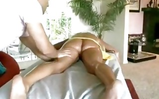 blonde oiled up golden-haired receives sensual