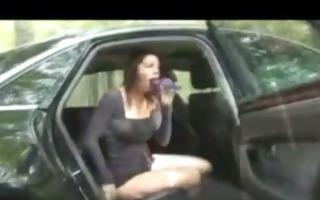 honey masturbates in back seat of car