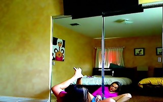 latina angels plays alone on her hacked web camera