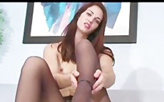 office wench faith leon in stockings
