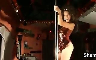 hot tgirl pole dancing