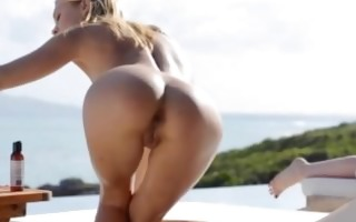 jaw-dropping ass and public vagina rubbing