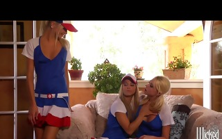 hot & concupiscent blond lesbo legal age