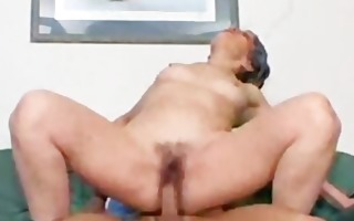 granny anal pumping jizz flow from behind