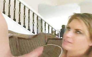 cutie with massive tits rides fat weenie