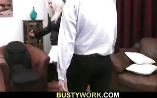 he is enjoys fucking nice-looking blonde plumper