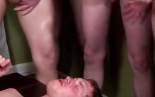 homo horny interracial group give sexy bukkake