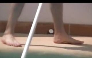 perving on the poolboy hd www.ladsfeet.com