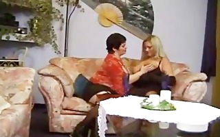 vintage 3way with plump woman and one lucky lad
