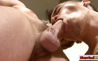 married stud acquires his dark hole rimmed by