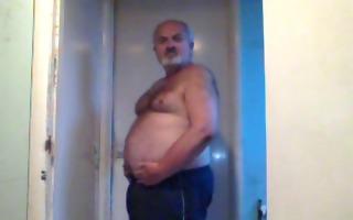 big bushy lad showing off