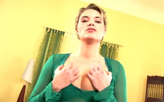 afroditte plays with vibrator solo