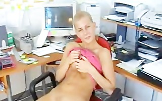 marvelous blond carmen sexually excited in her
