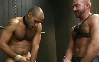 skinny gay guy tortured by his concupiscent