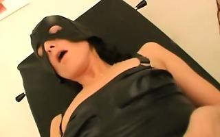 stockinged honey in the clinic