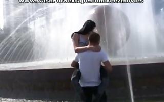 girlfriend copulates on film