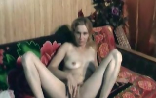 hot nina marital-device play on the couch
