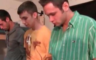 three got homosexual hazed into undressed