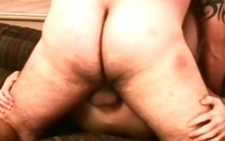 poor twink getting his anus pounded by gay bear