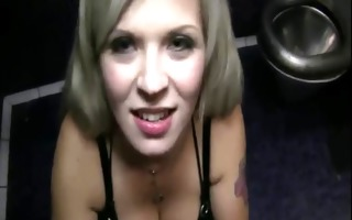 blonde non-professional gets mangos cumshot in