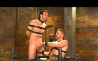 fastened homosexual acquires tit anguish and