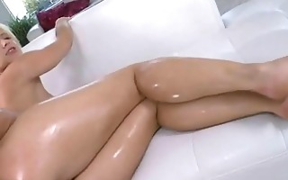 sexy sexy golden-haired fucks and takes a cum
