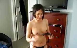 excited chinese mother i shows titght body