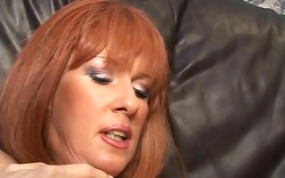 redhead with biggest love melons acquires busy