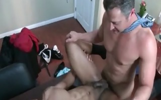 nasty gay studs screwed hard in the booty at the