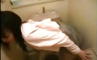 oriental masturbates in the bathroom..rdl