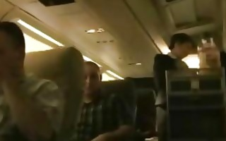 stewardess gives passenger great blowjob