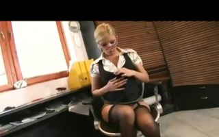 hot donna bell receives fucked at the office by