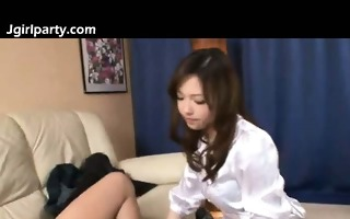 japanese admirable office gal blows rod