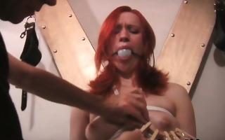 hot redhead busty hottie receives servitude part2