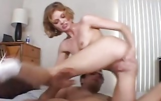 short haired blonde in hot underware sucks and