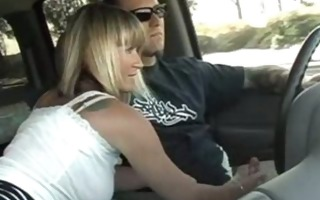 german blond wife oiled car cook jerking