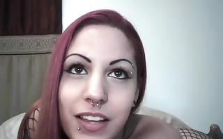 nasty red hair honey shows love tunnel