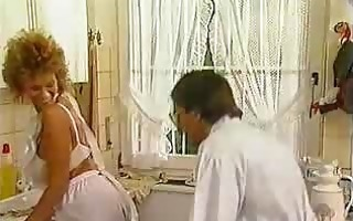 passionately vintage sex in the kitchen