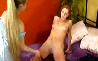 redhead girl whipped spanked with stick while