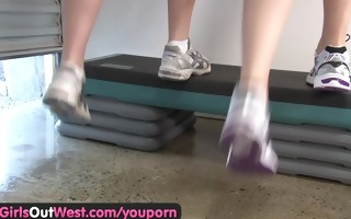 fitness lesbos having fun in the gym