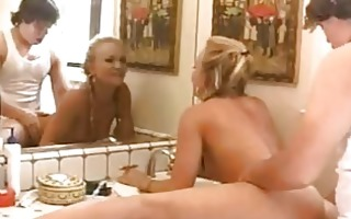 randy blonde teende with braids receives her