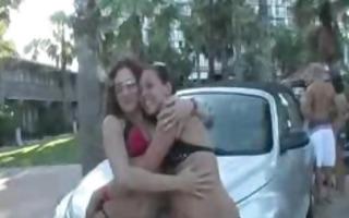 drunk bikini whores in streets of miami