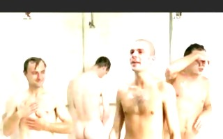 men showering in european clip